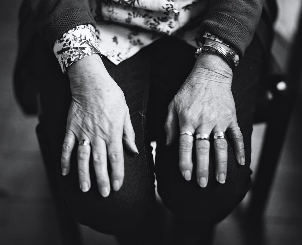 Knitters hands